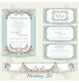 Wedding collection in mint color vector image