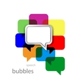 metal speech bubble on color vector image vector image