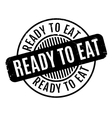 Ready To Eat rubber stamp vector image