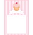 Sweet retro cupcake restaurant menu card vector image vector image