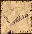 Open book icon isolated on vintage background vector image