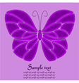 Purple butterfly background vector image