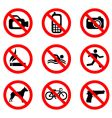 prohibit sign vector image vector image