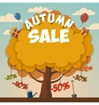 Sale advertising poster with autumn tree vector image vector image