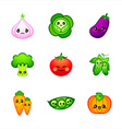 Cute vegetables vector image vector image