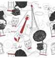 Seamless pattern with Paris and gramophones vector image vector image