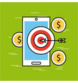 analytic and investments flat vector image