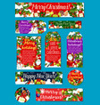 christmas and new year holidays gift tag design vector image