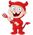 devil kid vector image