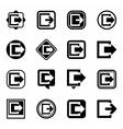 Exit icon set vector image