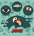 japan flat concept icons vector image