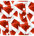 red hat seamless pattern vector image