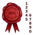 Sale Percent Wax Seal vector image