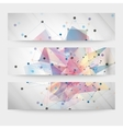 Set of abstract colored backgrounds triangle vector image