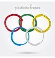 Set of five plasticine frames vector image