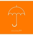 Stock Linear icon umbrella vector image