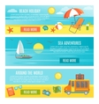 Summer Banner Set vector image