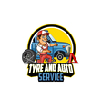 Tyre and Auto Service Logo Graphic vector image