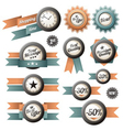 Retro labels and ribbons vector image vector image