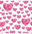 Cute seamless pattern from pink repeating vector image