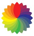 rainbow wheel vector image