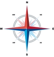 windrose compass vector image vector image