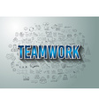 Teamwork Business Success with Doodle design style vector image