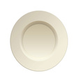 cream china plate vector image vector image