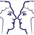zodiac sign gemini logo vector image vector image