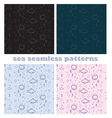 sea world seamless patterns vector image vector image