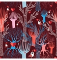 multicolored different trees vector image vector image
