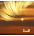 Beautiful abstract lights over sunset blur vector image