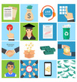 business icon set collection of business money vector image