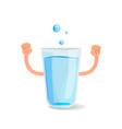 cartoon of water with hands vector image