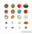Collection of Sport Items on White Background vector image
