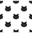 fox muzzle icon in black style isolated on white vector image