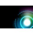 Glowing Segmented Circles vector image