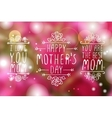 Happy Mothers Day Elements vector image