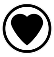 Love sign button vector image