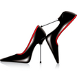 Pair of high heel shoes vector image
