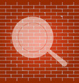 pan sign whitish icon on brick wall as vector image