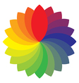 rainbow wheel vector image