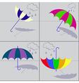 umbrellas with shadows vector image