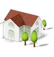 white house model vector image