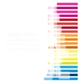 color line background vector image vector image