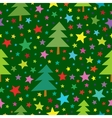 Christmas seamless simple pattern with colorful vector image vector image