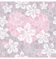 Gentle gray seamless valentine pattern vector image vector image