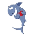 Shark with a heart in his hands vector image