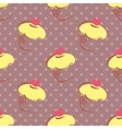 Tile polka dots and cupcakes pattern background vector image vector image