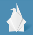 Origami Letter Crane vector image